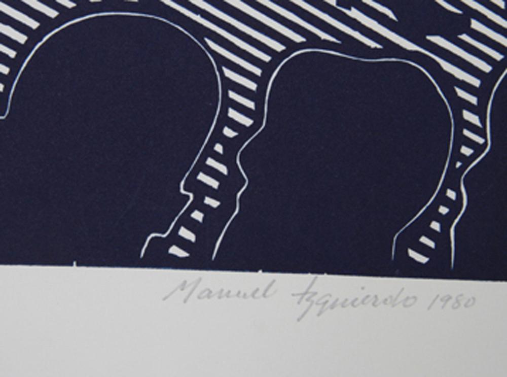 Manuel Izqueirdo, Spanish Dancer (Blue), Woodcut