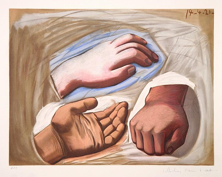 Pablo Picasso, Etude de Main, Lithograph