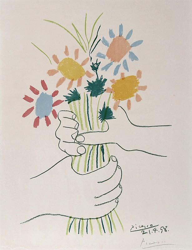 Pablo Picasso, Flower Bouquet, Lithograph