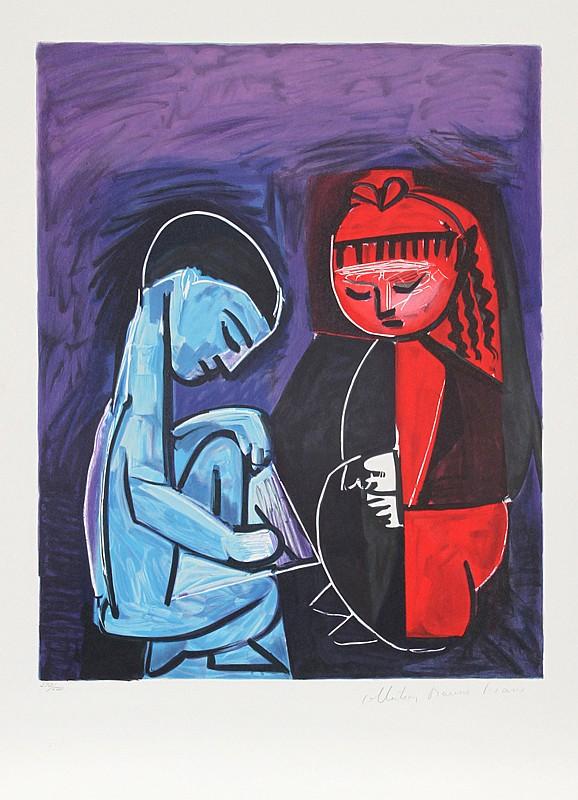 Pablo Picasso, Deux Enfants Claude et Paloma, Lithograph