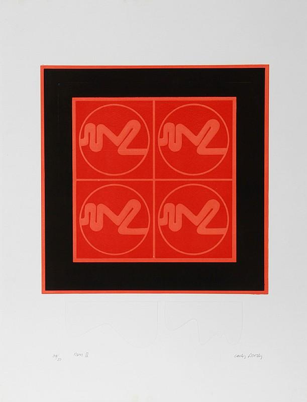 Carlos Davila, Neon IV, Intaglio Etching and Aquatint