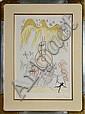 Salvador Dali, L'Ampoule incandesence, Leonardo Da Vinci, Etching