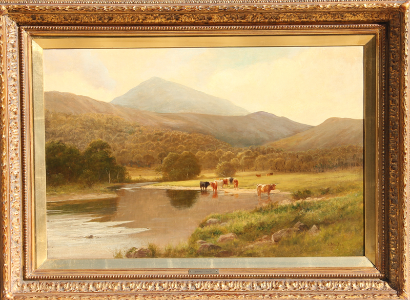 Stephen Enoch Hogley, Watering Hole, Oil Painting