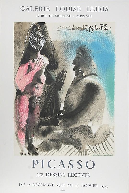 Pablo Picasso, 172 Dessins Recents: Galerie Louise Leiris, Offset Lithograph Poster