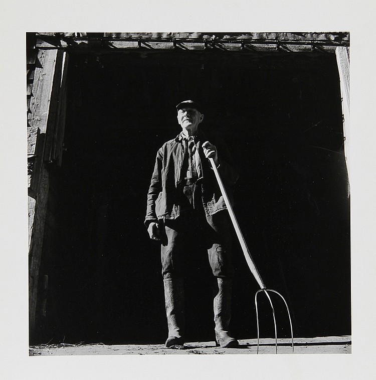 Kosti Ruohomaa, Maine 14 - Man with Pitchfork, Photograph