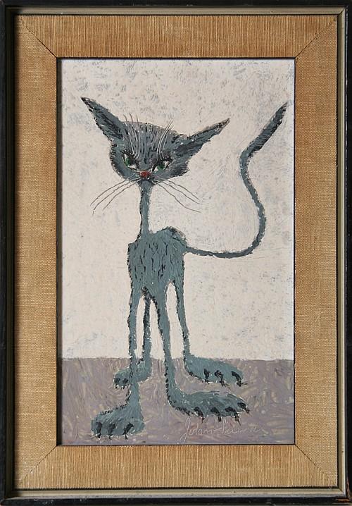 John Silavi, Cat, Painting