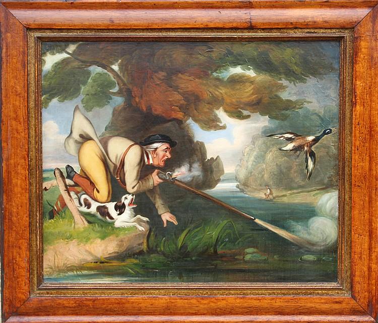Duck Hunter, Oil Painting