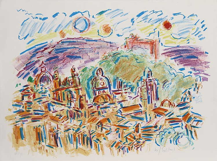 Wayne Ensrud, Enchanted City, Lithograph