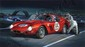 Jack Leynnwood, Ferrari Berlinetta 563, Gouache Painting