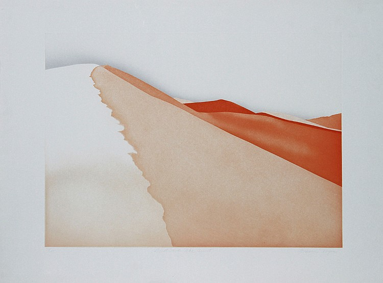 Frances Myers, Great Sands, The Ascent, Aquatint Etching