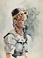 Eve Nethercott, Portrait of a Woman (87), Watercolor