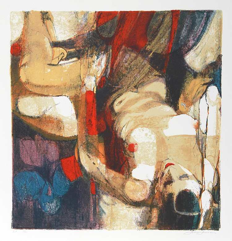 Jim Jonson, Figure and Composition, Lithograph