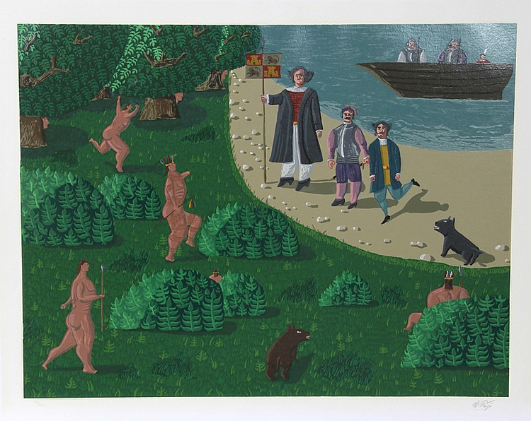 Oscar De Mejo, Pilgrim Landing, Silkscreen
