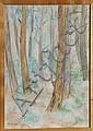 Laurent Marcel Salinas, Dans la Pinede au demas Mirmande (747), Oil Painting