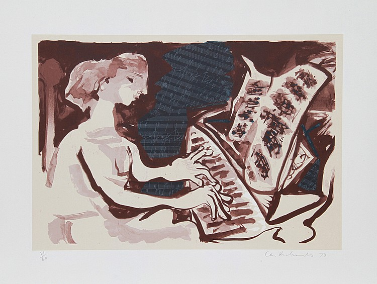 Ceri Geraldus Richards, The Beethoven Suite, Lithograph