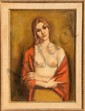 Jan De Ruth, Crossed Arms (Portrait of a Blonde), Oil Painting
