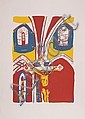 Biagio Civale, Crucifixion at Vic Su Cere, Serigraph
