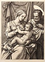 Marcantonio Raimondi, La Sainte Famille, Heliogravure