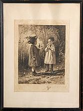 James Smillie, What O'Clock is it?, Etching