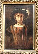 Rembrandt van Rijn, The Artist's Son, Titus, Print on Board
