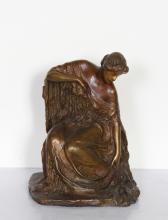 Bessie Potter Vonnoh, Woman Dressing, Bronze Sculpture