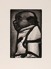 Georges Rouault, Bon Electeur from Le Reincarnations du Pere Ubu, Aquatint