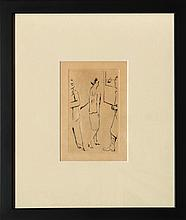 Pierre Bonnard, Lady in Art Gallery, Drypoint Etching