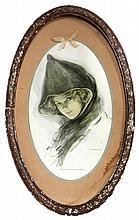 Harrison Fisher, Woman in Cloak, Poster