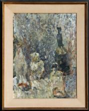 Willy Rieser, Stillleben mit Flaschen, Oil Painting