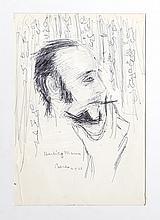 Dimitrie Berea, Herbie Mann (7), Ink Drawing