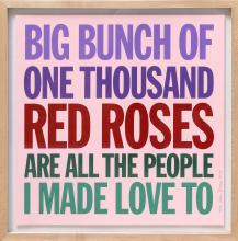 John Giorno, Big Bunch of One Thousand Red Roses..., Screenprint