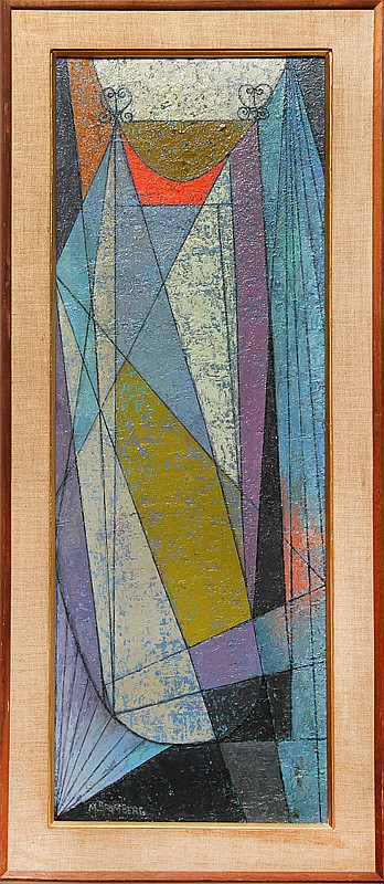 Miriam Bromberg, Cubist Abstract III, Oil Painting