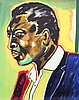 Frederick J. Brown, John Coltrane, Serigraph, Frederick James Brown, Click for value