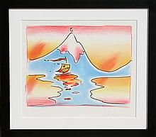 Peter Max, Himalayan Valley, Lithograph