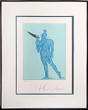 Peter Max, Circus Performer with Bird, Lithograph