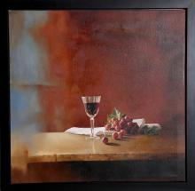 H. Gauzen, Still life with Wine Glass, Oil Painting