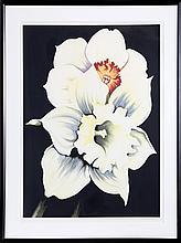 Lowell Blair Nesbitt, Two White Flowers, Serigraph
