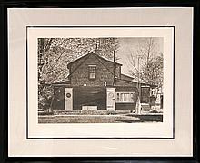 John Baeder, Untitled (House with Trailer), Etching