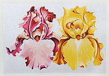 Lowell Blair Nesbitt, Pink and Yellow Irises, Serigraph