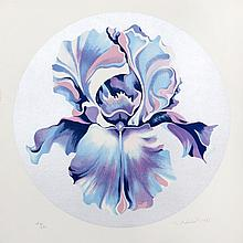 Lowell Blair Nesbitt, Iris on Silver, Serigraph