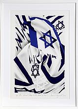 James Rosenquist, Israel Flag at the Speed of Light, Lithograph