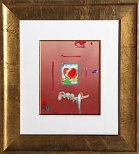 Peter Max, Heart Series Version III, Acrylic and Collage Painting