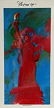 Peter Max, Statue of Liberty 4, Poster