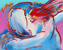 Peter Max, Peace by the Year 2000, Acrylic Painting over Lithograph