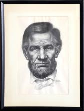 Charles White, Lincoln, Offset Lithograph.