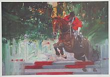 Robert Peak, Horse Jumping from the Visions of Gold Olympic Portfolio, Lithograph