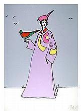 Peter Max, Monk with Hat, Serigraph