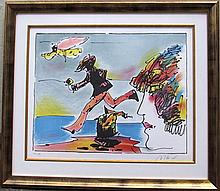 Peter Max, Runner and Flying Sage, Lithograph