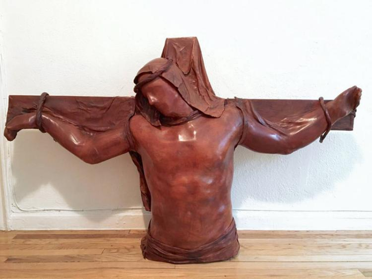 Daphne Du Barry, The Christ of the Angels, Mixed Media Sculpture