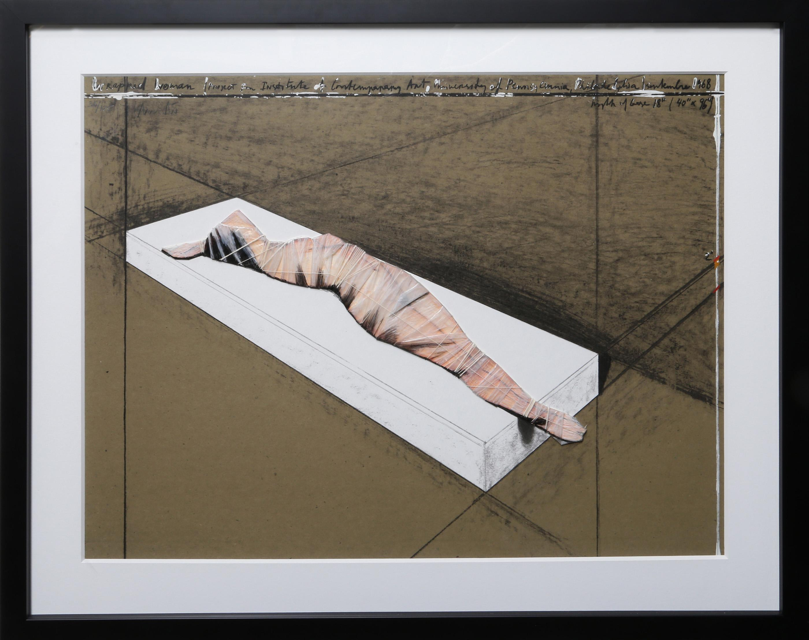 Christo and Jeanne-Claude, Wrapped Woman, Lithograph with Collage
